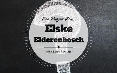 Zes vragen aan… Elske Elderenbosch