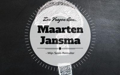 Zes vragen aan… Maarten Jansma
